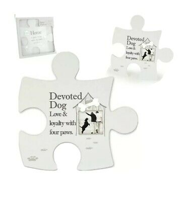 £12.50 • Buy Arora Design Said With Sentiment DEVOTED DOG Jigsaw Picture Wall Art Frame 7507