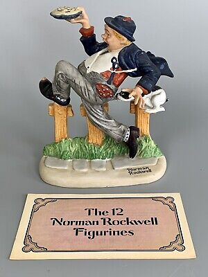 $ CDN16.17 • Buy Vintage NORMAN ROCKWELL Danbury Mint CAUGHT IN THE ACT Porcelain FIGURINE 1980