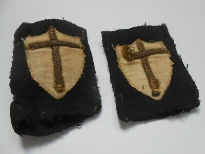 £40 • Buy Pair Of Italian Made 8th Army Slip On  Cloth Formation Signs Unit Patches