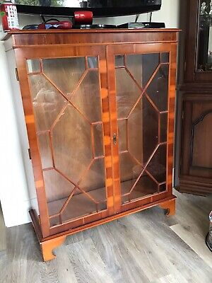 £30 • Buy Vintage Bookcase Display Cabinet Glass Fronted 1940/50s Period
