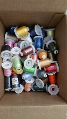 $48.95 • Buy Lot Of 60 LARGE Cones Polyester Embroidery Machine Thread 40 WT.  Grab A Bag!!!!