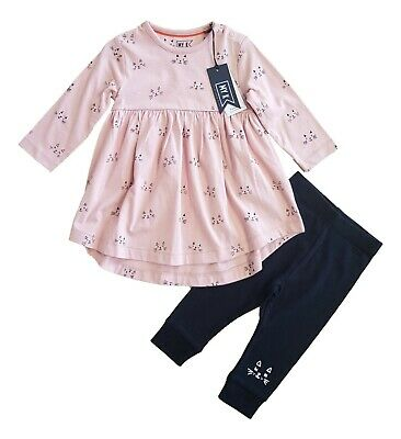 £8.50 • Buy Mothercare BNWT Baby Girls Pink Outfit Tunic Top And Leggings Set Gift Designer