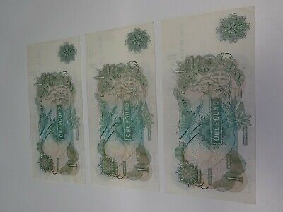 £7.99 • Buy 3 X £1 One Pound Note Series C Bank Of England
