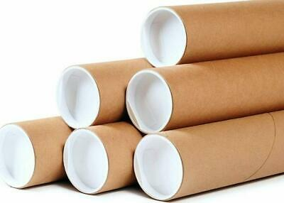 $55.99 • Buy  50 - 2  X 12  Round Cardboard Shipping Mailing Tube Tubes With End Caps