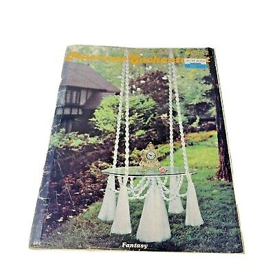 $14.99 • Buy Vintage Macrame Enchantment Book 2 Patterns Hanging Table Fountain Plant Hanger