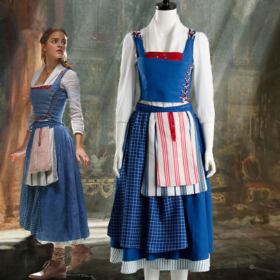 $82.50 • Buy 2017 Film Beauty And The Beast Belle Emma Watson Maid Dress Cosplay Costume