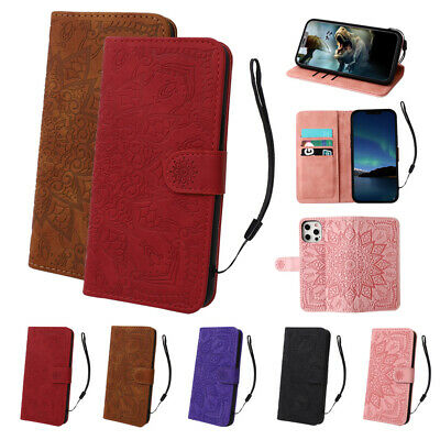 AU7.98 • Buy Leather Magnetic Flip Case For IPhone 12 11 Pro X XR XS 8 7 6s Plus Wallet Cover