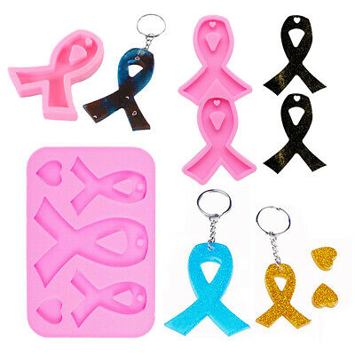 £3.39 • Buy Ribbon Silicone Mold Necklace Jewelry Keychain Pendant Resin Craft Mould Crossed