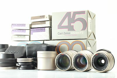 $ CDN1493.63 • Buy [MINT W/ Hood] Contax Carl Zeiss 28mm 45mm 90mm Lens For G1 G2 In Box From JAPAN