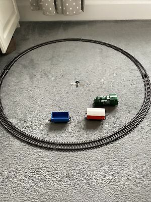 £26.70 • Buy Vintage Clockwork Hornby Train Set Goods Wagons RS 691 Circle Track And Trains