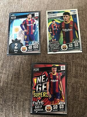 £3 • Buy Match Attax101 2020/21 2021 Lionel Messi RARE NEW Base Card Barcelona + More
