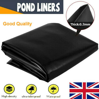£15.99 • Buy 0.2mm Thickness Fish Pond Liners Membrane Landscaping Reinforced Pond Liners UK