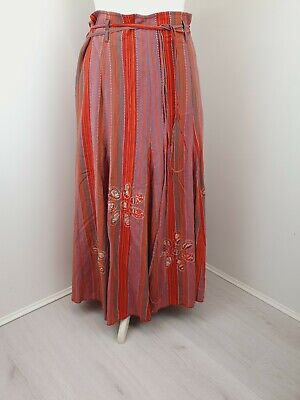£16.99 • Buy M&S Per Una Womens Maxi Skirt Embroidered Lined Hippie Boho Size 14 R