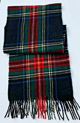 $12.01 • Buy Lafayette Collection Gorgeous Extra Long Green Plaid Woollen Scarf
