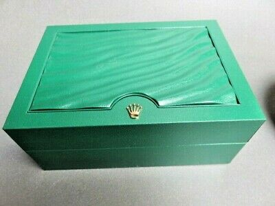 $ CDN100 • Buy Rolex SA  Green Watch Wave Empty Box With Tag And Suede Holder 39139.64