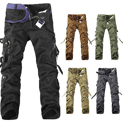 $44.79 • Buy Men's Military Army Combat Cargo Trousers Tactical Work Sports Pants Bottoms