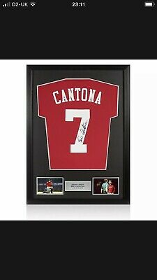 £100 • Buy Eric Cantona Hand Signed Manchester United Football Shirt In A Framed Display