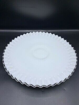 $24.99 • Buy Fenton  Silver  Crest Low  Footed Cake Stand  Server