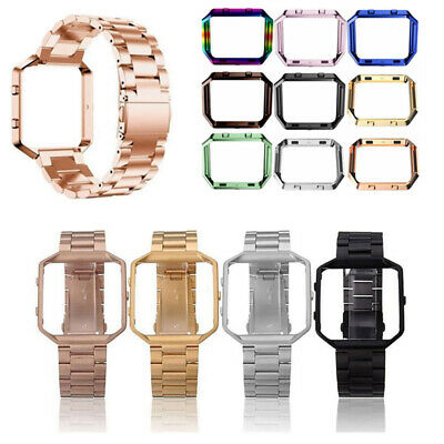 AU12.05 • Buy Stainless Steel Wristwatch Band Strap Frame Case Cover For Fitbit Blaze Watch