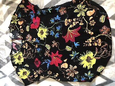 £1 • Buy Bright Cheerful Floral Top Size 10