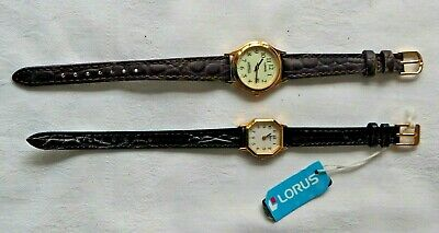 £4.99 • Buy 2 X Ladies Gold Toned Wrist Watches By Lorus (seiko) New Old Stock