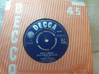 """£3.50 • Buy Tommy Steele – What A Mouth 1960 7"""" Decca F 11245"""