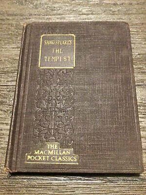 $35 • Buy Vintage Book The Tempest William Shakespeare MacMillan Pocket Classic 1924