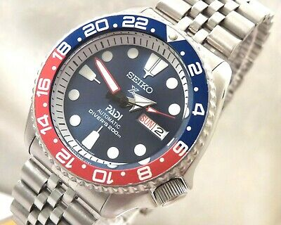 $ CDN186.62 • Buy Seiko Blue Shimmer Prospex PADI Pepsi GMT Day Date Automatic Divers Watch SKX009