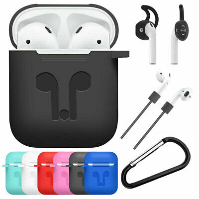 AU10.75 • Buy For Apple AirPods 2nd Generation Shockproof Skin Case Cover With Strap Ear Hooks