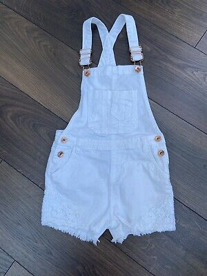 £0.99 • Buy Denim Co Girls Shorts Dungarees Playsuit Age 7-8 White Lace Insert Next P&P