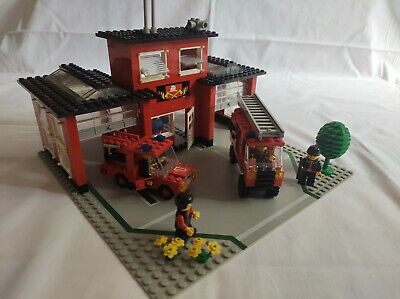 £9.99 • Buy Lego 6382 Fire Station With Vehicles, Minifigures & Original Instructions