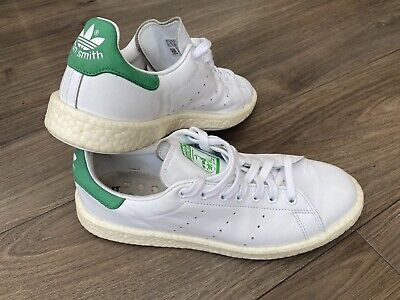 AU28.27 • Buy Adidas Originals Stan Smith Ultra Boost Mens White  & Green Trainers UK9