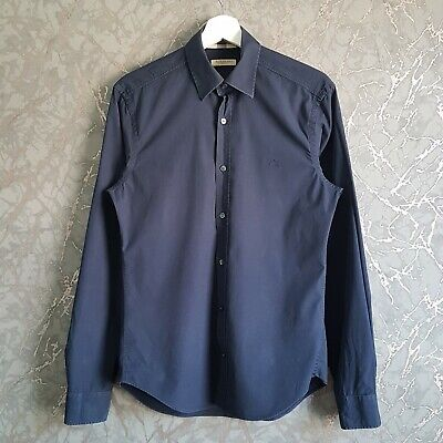 $27.66 • Buy Burberry Brit Button Up Navy Shirt Size S