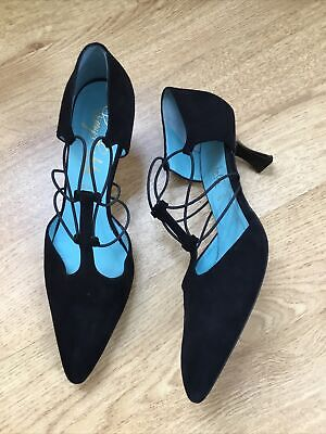 £12.99 • Buy Black Suede Kitten Heeled Shoes Size 6.5 By Thierry Rabotin