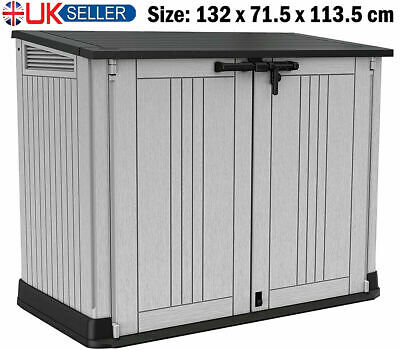 £212.99 • Buy Keter Store It Out Max Garden Lockable Storage Box Xl Shed Outside Bikebin Tool
