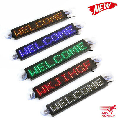 £17.99 • Buy New 12V Car LED Information Sign Moving Scrolling Message Display Board Screen