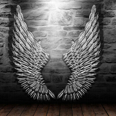 £55.72 • Buy 100cm Large Angel Wings Wall Art  Wall Mounted Home Hallway Living Hanging Deco