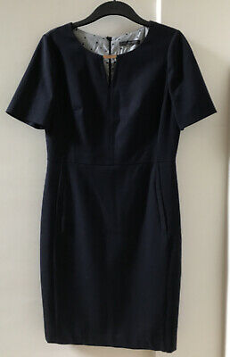£3.99 • Buy M&S Collection Navy Smart Tailored Dress With Cut Out Detail Size 12