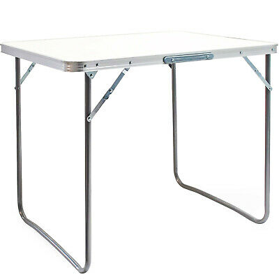£21.95 • Buy Foldable 2.6ft Picnic Table Camping Table Outdoor White Portable Folding Desk