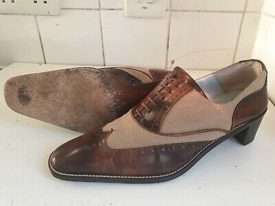£19.99 • Buy Audley Designer Womens Uk 5.5 Eu 38.5 Low Heels Lace Brown Brogue Leather Shoes