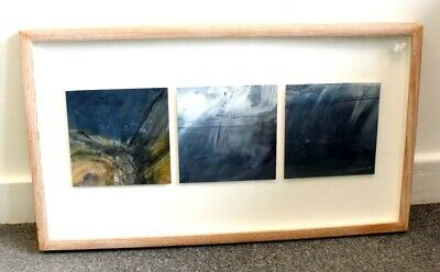 £26.89 • Buy MARGARET KNOTT The Sea Triptych III' ORIGINAL ACRYLIC Painting - SIGNED W41