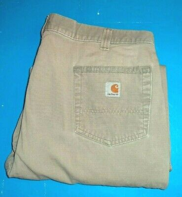 $10.99 • Buy Mens Carhartt Relaxed Fit Cargo Carpenter Pants Jeans  Size 40 X 32   ...#967