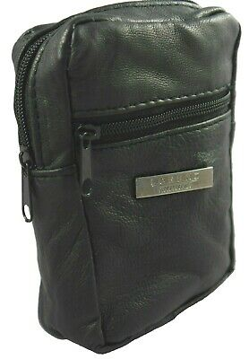 £4.39 • Buy Soft Nappa Leather Zip Top Cigarette Case Pouch Lighter Holder Lorenz NEW