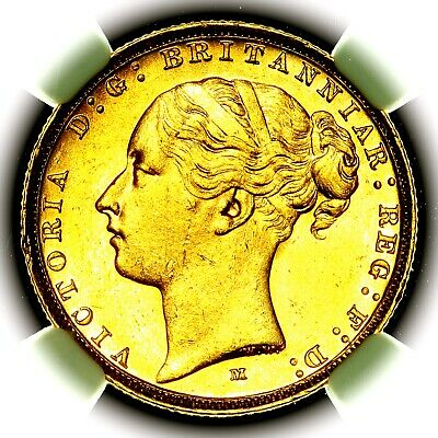 £265 • Buy 1884 M Queen Victoria Great Britain Australia Melbourne Gold Sovereign NGC MS64