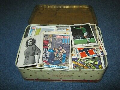 £3 • Buy 1953 Tin Of Over 500 Gum/confectionery/trade Cards.job Lot.