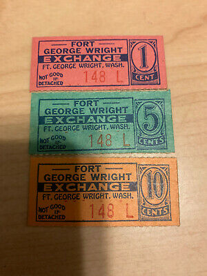 $27 • Buy Wwii Military Trade Token Chit Wahington Fort Wright Post Exchange