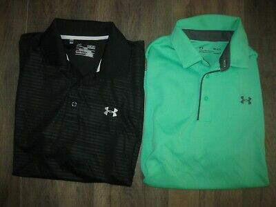 $64.99 • Buy 2-Lot Under Armour Loose Heat Gear Men's Polo Shirts M Casual Dress Lounge Golf