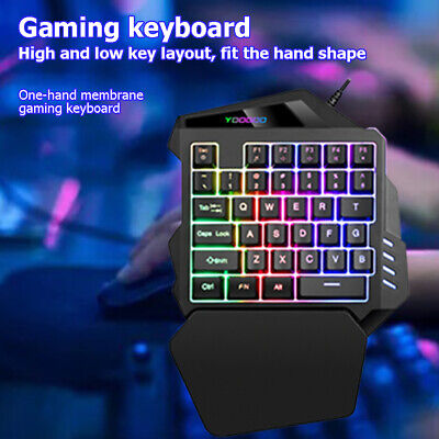 AU25.89 • Buy G94 One Handed Gaming Keyboard 35 Keys Wired Membrane Gaming Keypad For PC