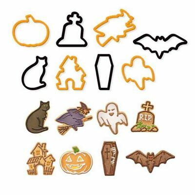 £3.99 • Buy 8 Pack Halloween Shaped Cookie Cutters Cake Clay Fondant Fondant Biscuit Pastry