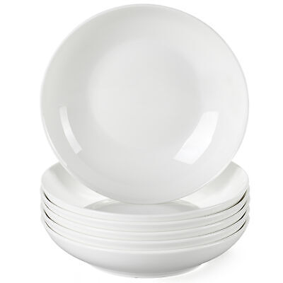 £31.99 • Buy Lovecasa Sweet 6pc 6  Porcelain Soup Plates White Wedding Serving Dishes Bowls